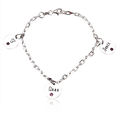Trio II – Bratara personalizata din argint