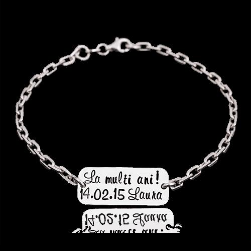 LMA - bratara personalizata cu placuta de argint
