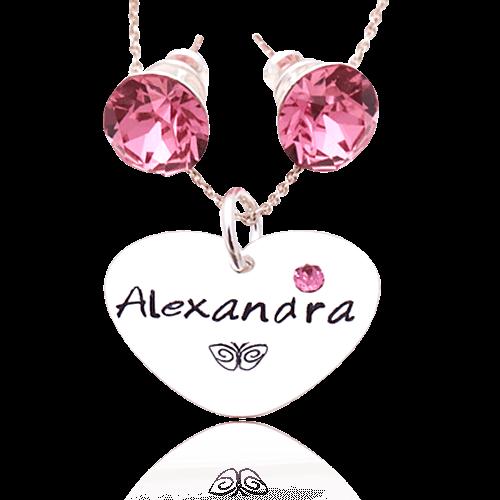 Pink - Set personalizat din argint
