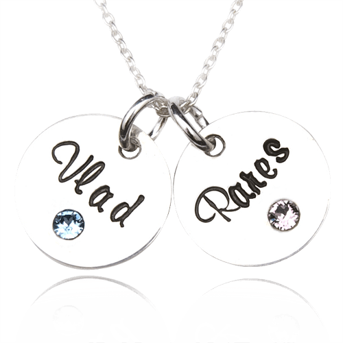 Graduate - colier personalizat din argint
