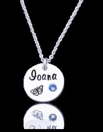 Ioana - colier personalizat din argint