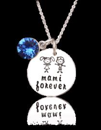 Mami-forever-colier argint personalizat