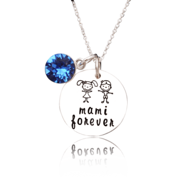 Mami-forever-colier argint personalizat