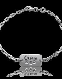 Oriana – bratara personalizata din argint