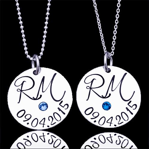 """""""Noi 2″- set de coliere personalizate din argint."""