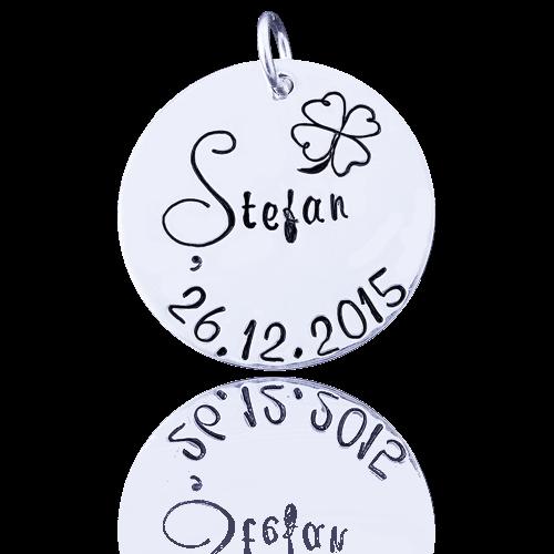 Stefan - Banut argint 22,2 mm – Mot, Turta, Botez