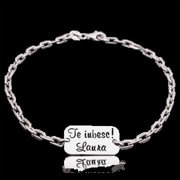 Love you – bratara personalizata argint