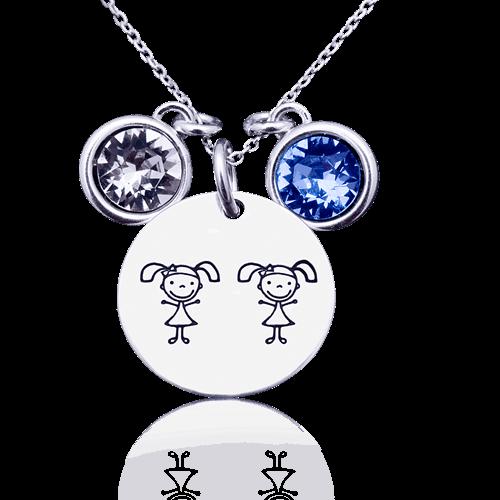Twin - colier personalizat din argint